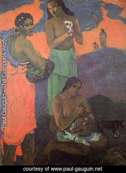 Paul Gauguin - Maternity Aka Three Woman On The Seashore