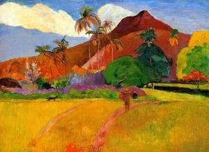 Paul Gauguin - Mountains In Tahiti
