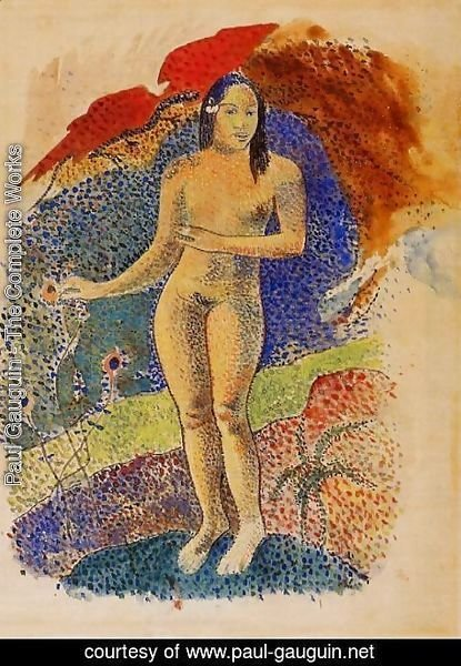 Paul Gauguin - Nave Nave Feuna  LEve Tahitienne Aka Beautiful Land  Tahitian Eve
