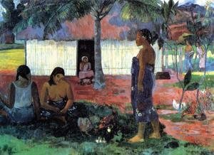 Paul Gauguin - No Te Aha Oe Riri Aka Why Are You Angry