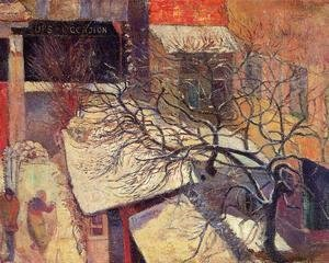 Paul Gauguin - Paris In The Snow