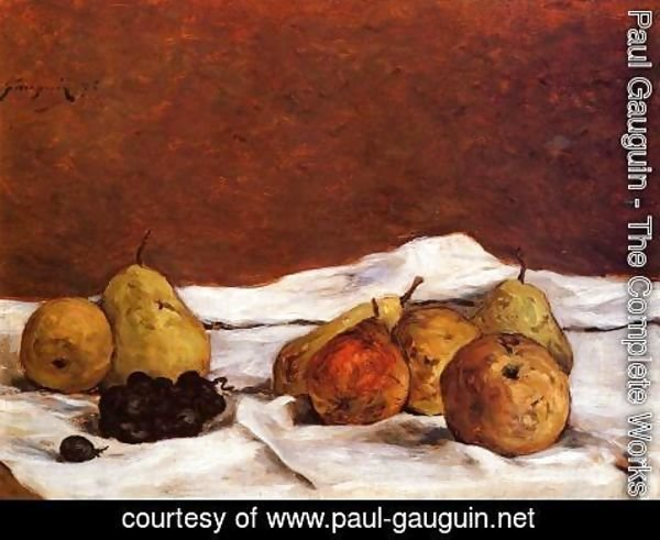 Paul Gauguin - Pears And Grapes