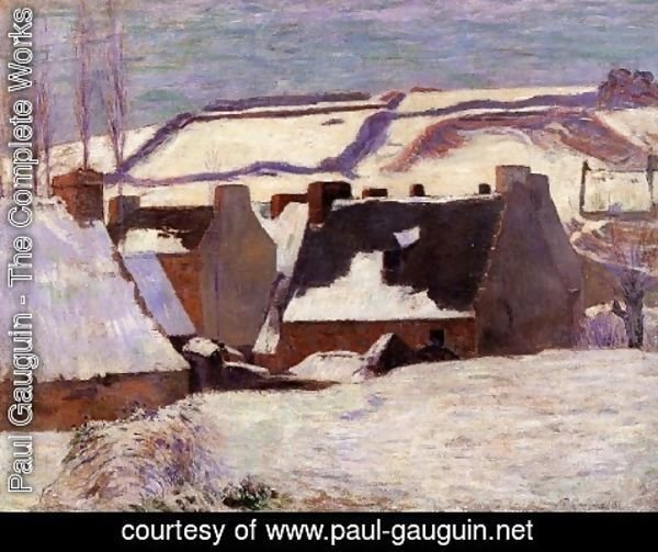 Paul Gauguin - Pont Aven In The Snow