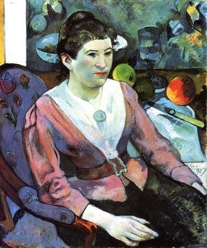 Portrait Of A Woman With Cezanne Still Life