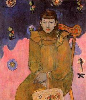 Paul Gauguin - Portrait Of A Young Woman  Vaite (Jeanne) Goupil