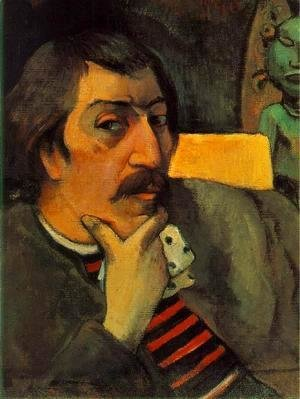Paul Gauguin - Portrait Of The Artist With The Idol