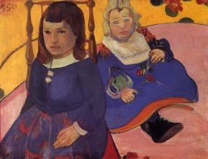 Paul Gauguin - Portrait Of Two Children Aka Paul And Jean Schuffenecker