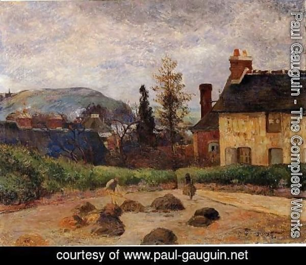 Paul Gauguin - Returning From The Harvest Aka Manuring