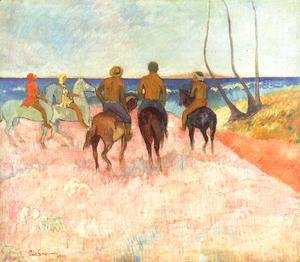 Paul Gauguin - Riders On The Beach