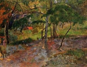 Paul Gauguin - River Under The Trees  Martinique