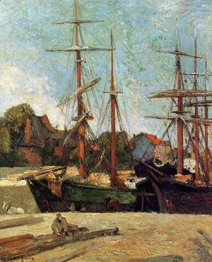 Paul Gauguin - Schooner And Three Master
