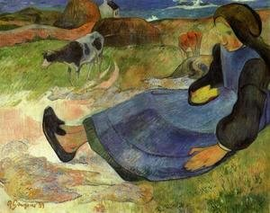 Paul Gauguin - Seated Breton Girl