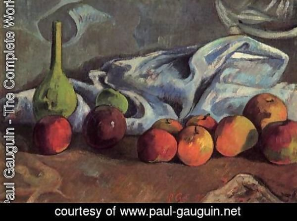 Paul Gauguin - Still Life With Apples And Green Vase