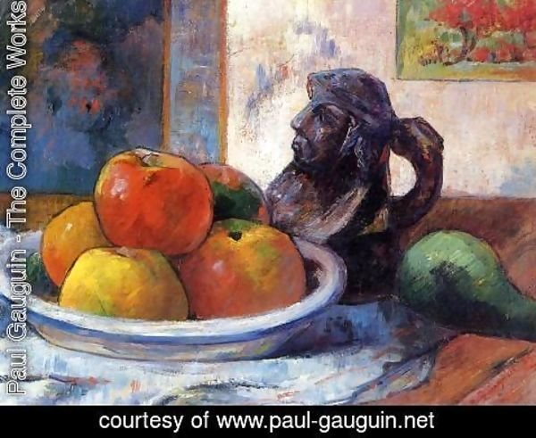 Paul Gauguin - Still Life With Apples  Pear And Ceramic Portrait Jug