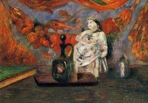 Paul Gauguin - Still Life With Carafe And Ceramic Figure