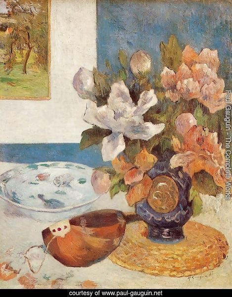 Still Life With Chinese Peonies And Mandolin