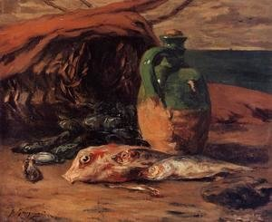Paul Gauguin - Still Life With Jug And Red Mullet