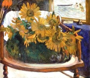 Paul Gauguin - Still Life With Sunflowers On An Armchair