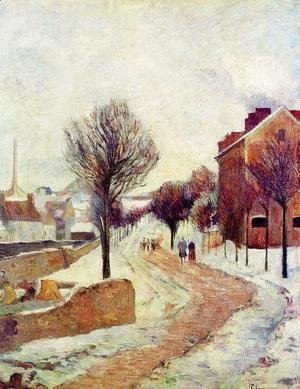 Paul Gauguin - Suburb Under Snow