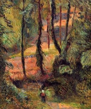 Paul Gauguin - Sunken Path  Wooded Rose