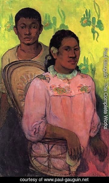 Paul Gauguin - Tahitian Woman And Boy
