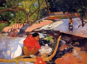 Paul Gauguin - Tahitians At Rest (unfinished)