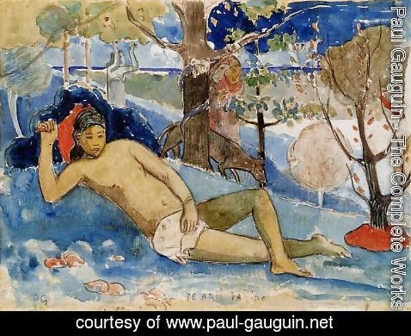 Paul Gauguin - Te Arii Vahine Aka The Queen Of Beauty