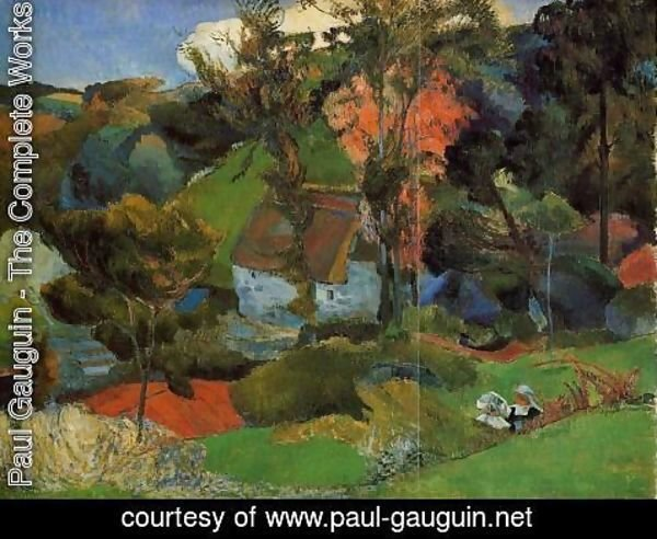 Paul Gauguin - The Aven Running Through Pont Aven
