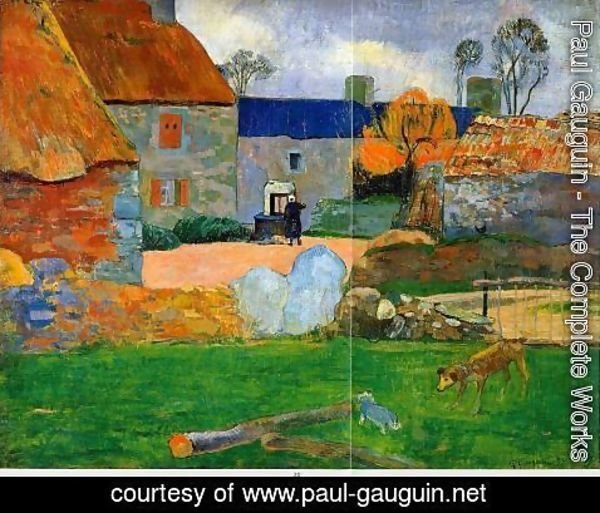 Paul Gauguin - The Blue Roof