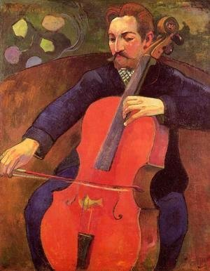 Paul Gauguin - The Cellist Aka Portrait Of Fritz Scheklud