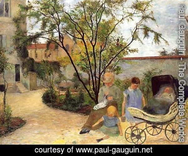 Paul Gauguin - The Family In The Garden  Rue Carcel