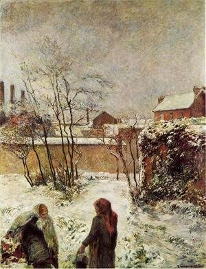 Paul Gauguin - The Garden In Winter  Rue Carcel
