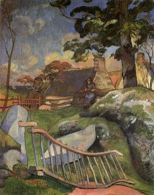 Paul Gauguin - The Gate Aka The Swineherd