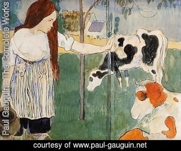 Paul Gauguin - The Milkmaid