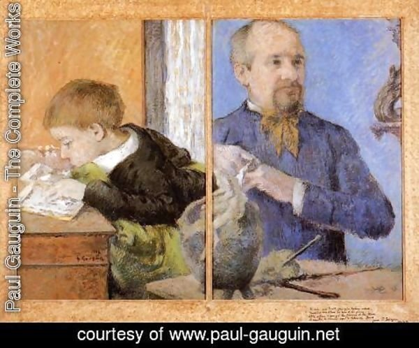 Paul Gauguin - The Sculptor Aube And His Son
