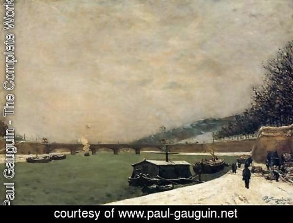 Paul Gauguin - The Seine  Pont D Iena  Snowing