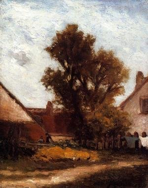 Paul Gauguin - The Tree In The Farm Yard