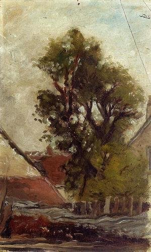 Paul Gauguin - The Tree In The Farm Yard (sketch)