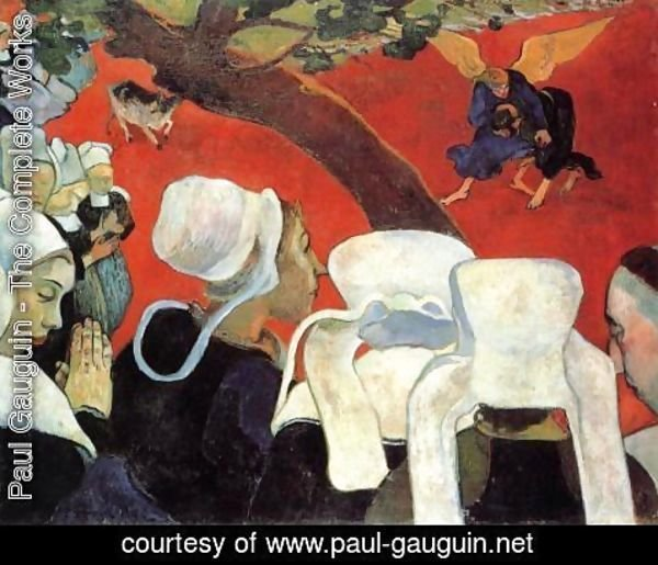 Paul Gauguin - The Vision After The Sermon Aka Jacob Wrestling The Ange