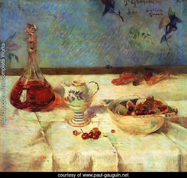The White Tablecloth Aka Still Life With Cherries