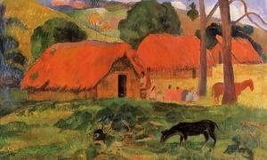 Paul Gauguin - Three Huts  Tahiti