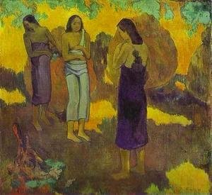 Paul Gauguin - Three Tahitian Women Against A Yellow Background