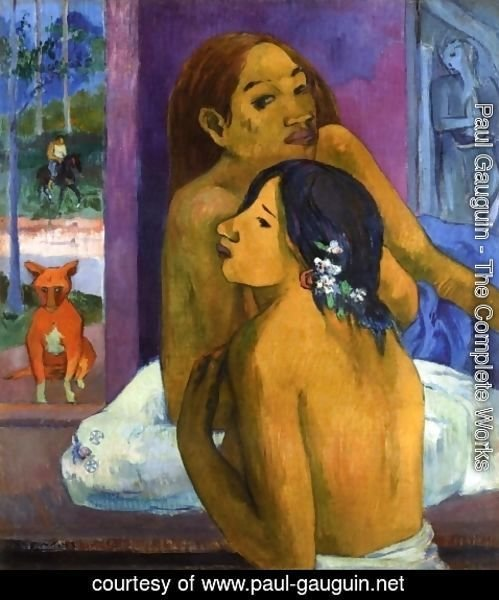 Paul Gauguin - Two Women Aka Flowered Hair