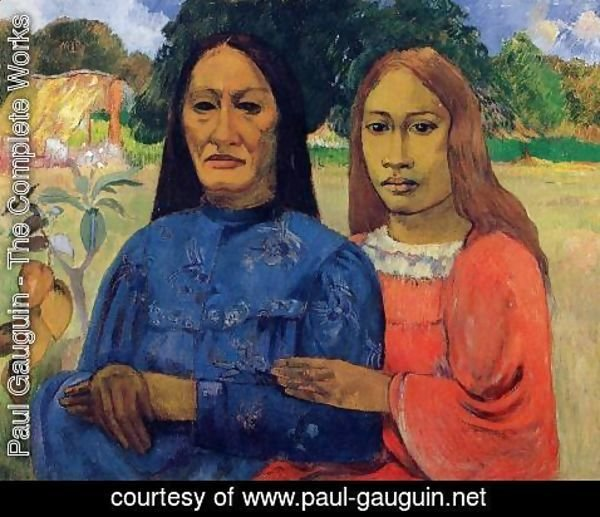 Paul Gauguin - Two Women Aka Mother And Daughter