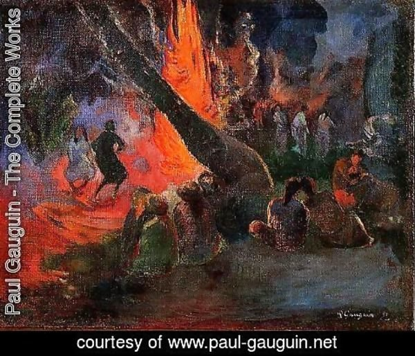 Paul Gauguin - Upaupa Aka Fire Dance