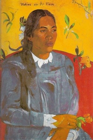 Paul Gauguin - Vahine No Te Tiare Aka Woman With A Flower