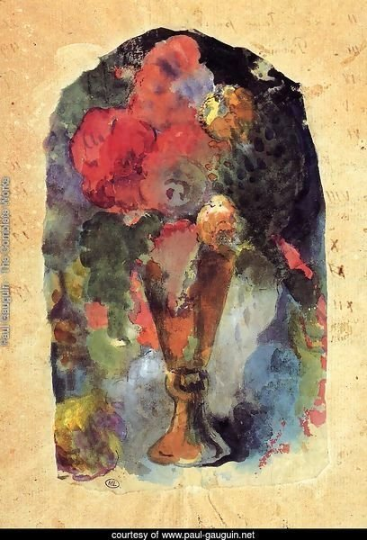 Vase Of Flowers (after Delacroix)