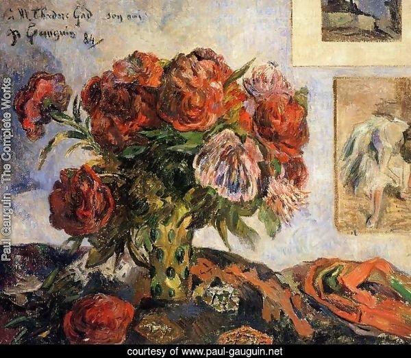 Paul Gauguin The Complete Works Vase Of Peonies Paul Gauguin Net