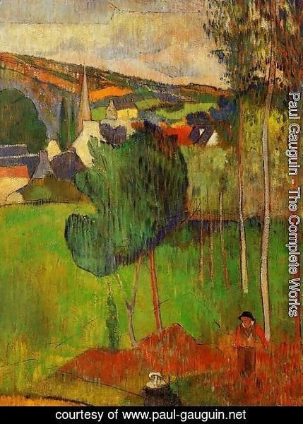 Paul Gauguin - View Of Pont Aven From Lezaven