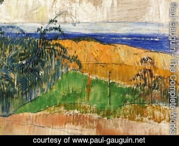 Paul Gauguin - View Of The Beach At Bellangenay